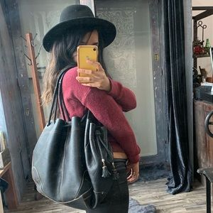 Cole Haan Leather Drawstring Purse